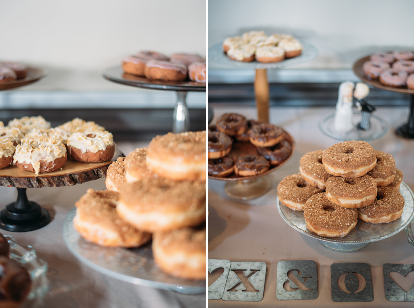 wedding donuts cake