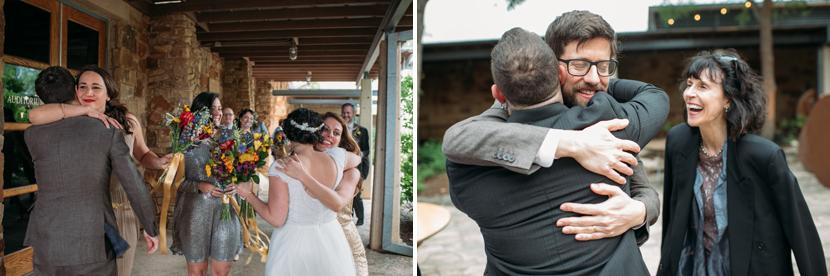 happy people getting married in austin