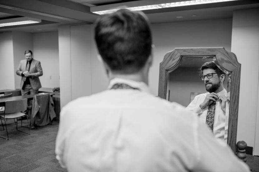 men getting ready for wedding
