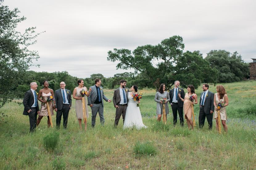 wildflower center wedding party
