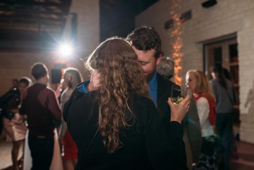 wedding reception at wildflower center pavilion