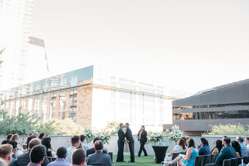 w austin rooftop wedding