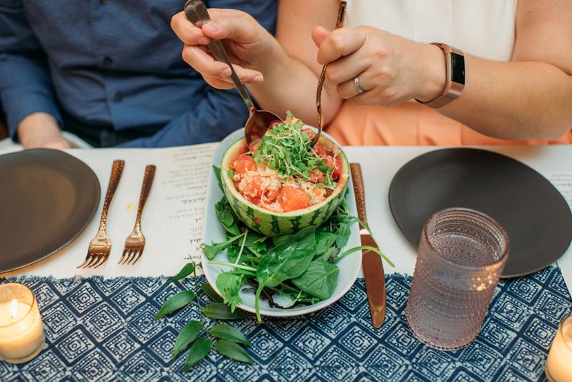 custom wine pairings by pink avocado during their summer dinner series