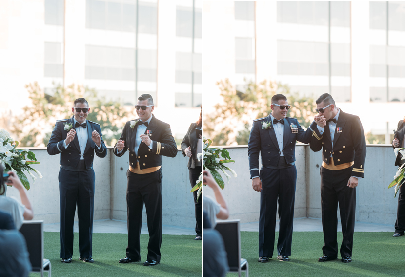 two grooms get married at downtown austin hotel