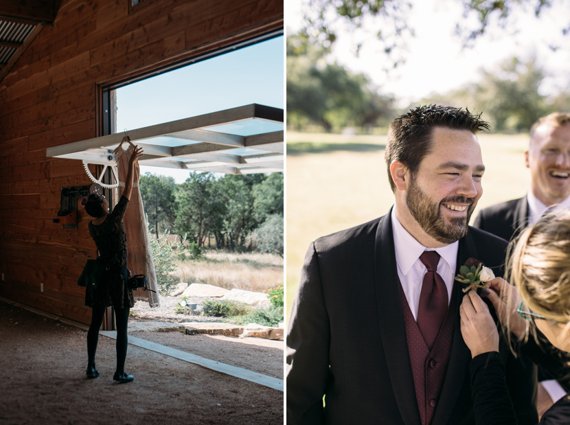 austin wedding photographer behind the scenes
