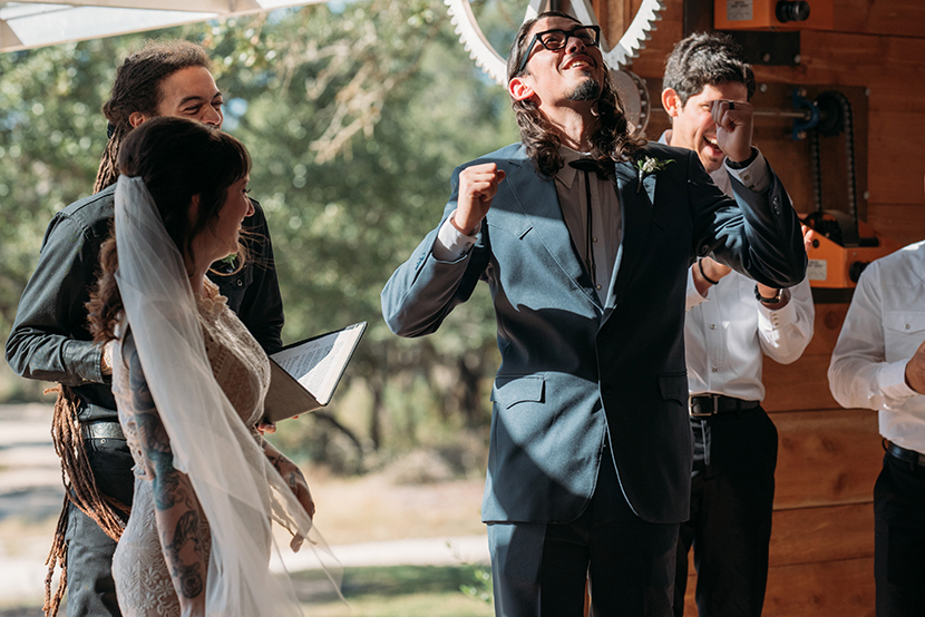 best groom reaction after wedding ceremony