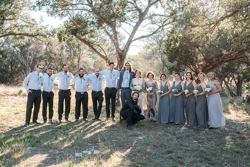 a fun and eclectic wedding party texas
