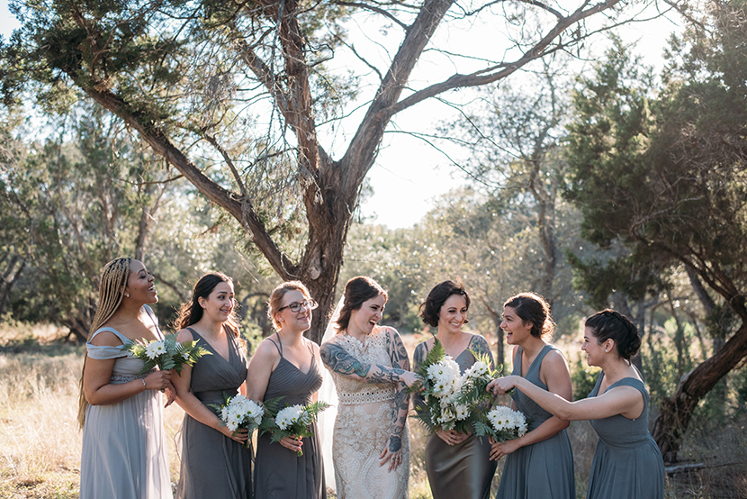offbeat bride and bridesmaids