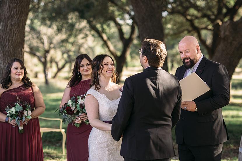 outdoor wedding ceremony in texas