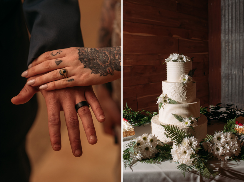 offbeat tattooed wedding