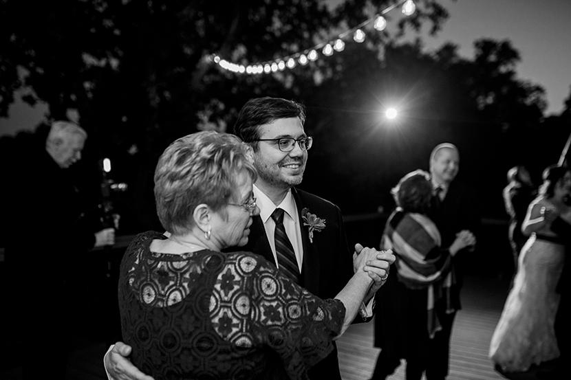 outdoor wedding reception in texas