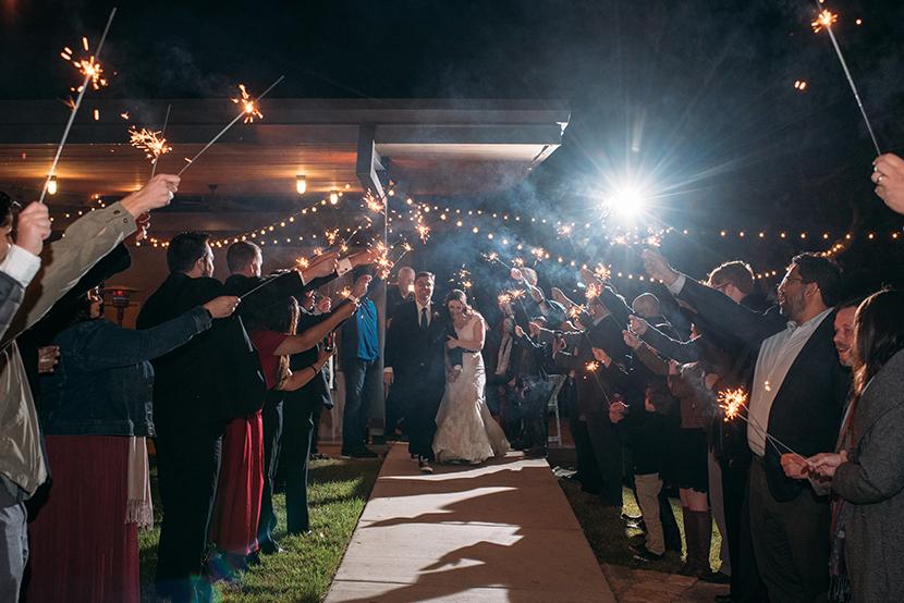 winery wedding exit