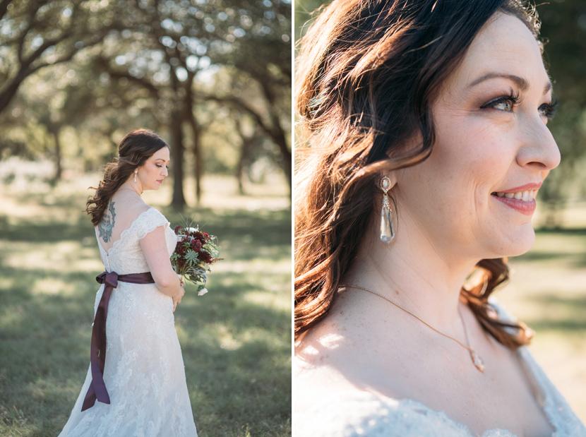 outdoor bridal portraits in texas