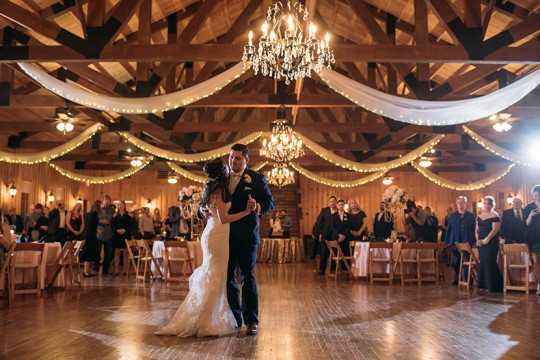 first dance at milestone venue