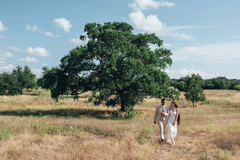 elopement at wildflower center austin