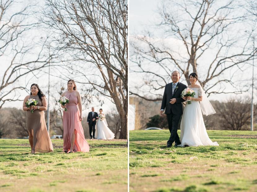 zilker park wedding processional