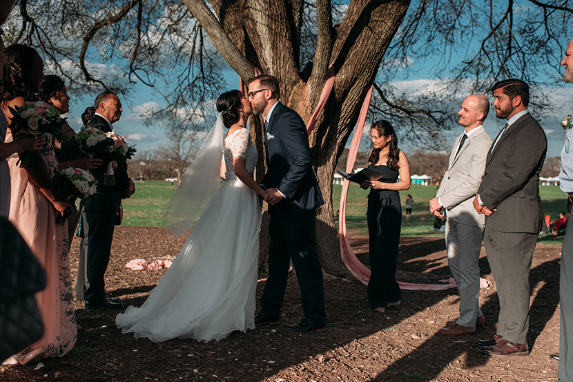 guerilla wedding at zilker park