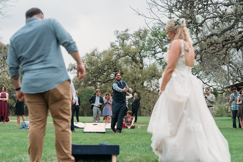 wedding cornhole tournament