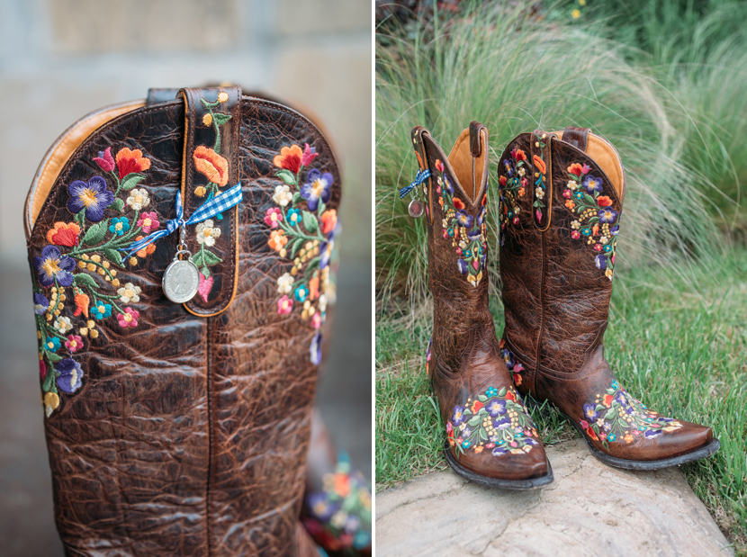 bride wedding cowboy boots