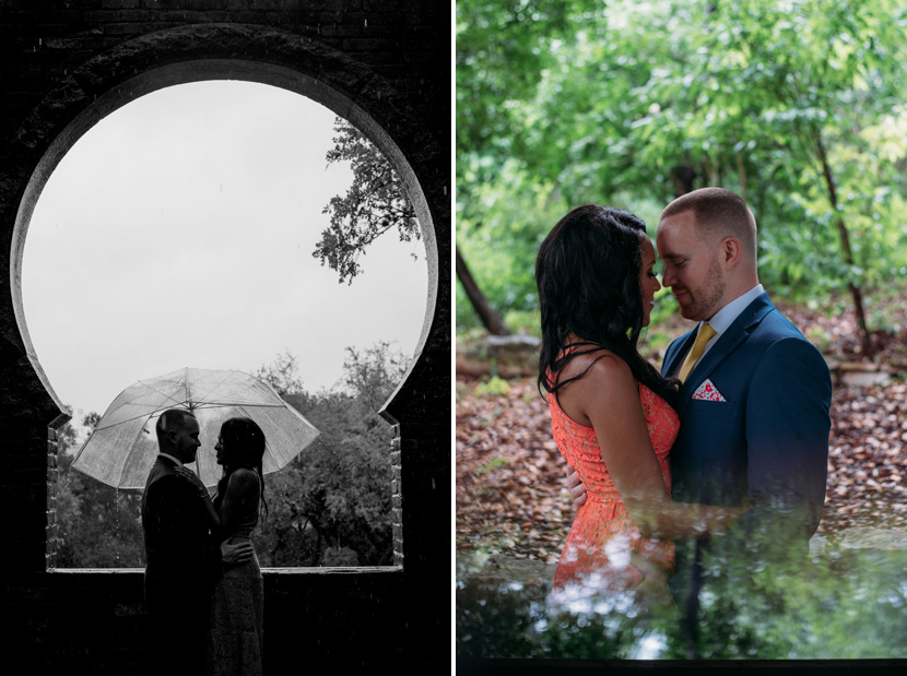 Spring wedding portraits at Zilker Botanical Garden