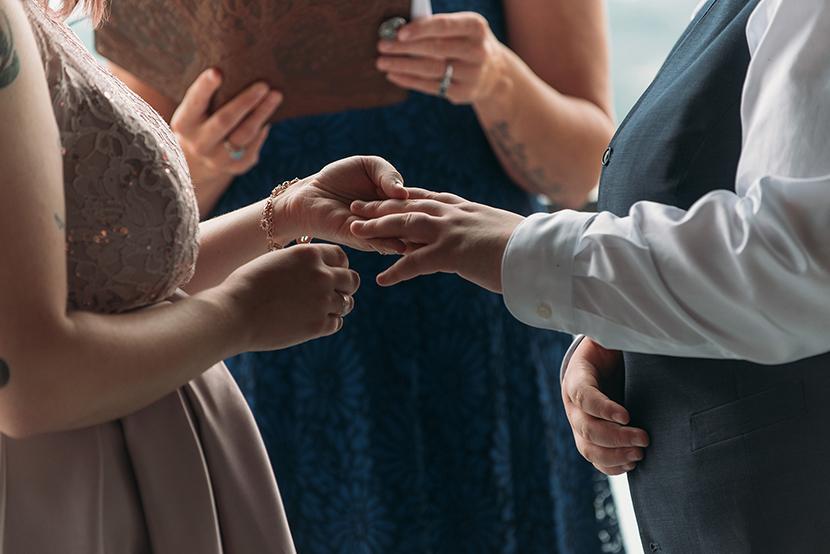 brides exchanging rings