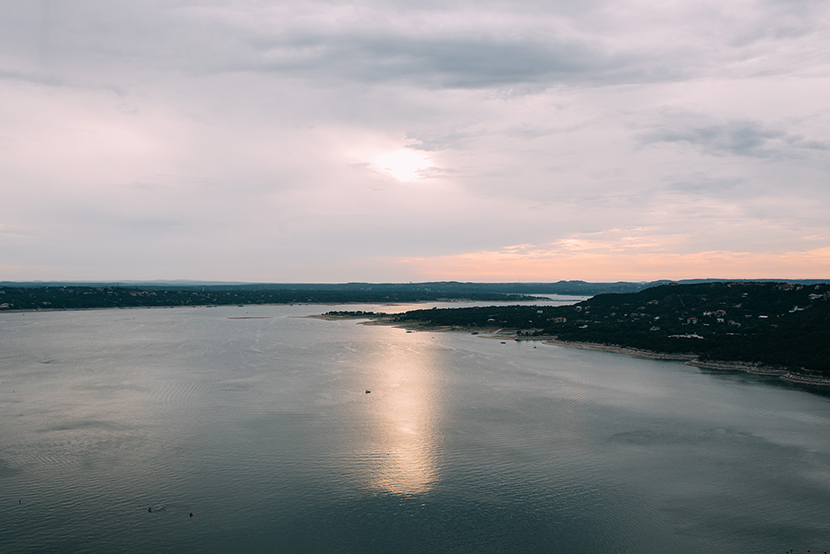 the view of lake travis from the oasis