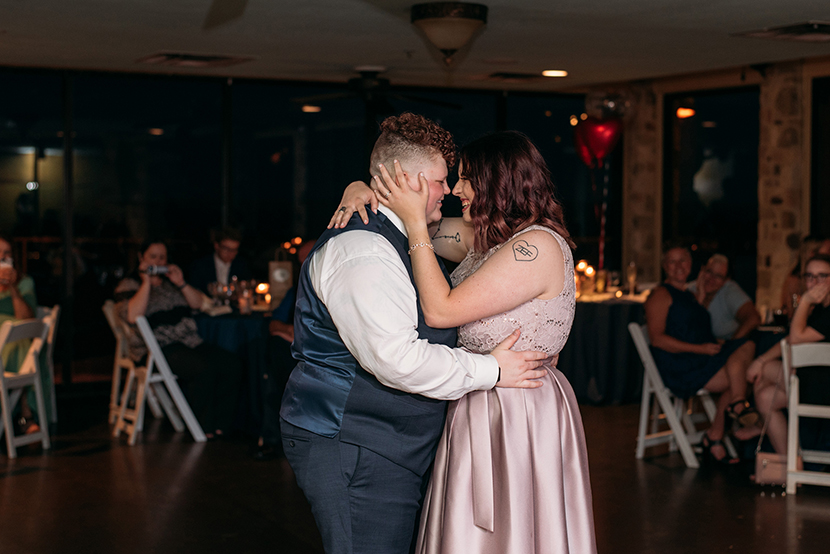 two brides share their first dance