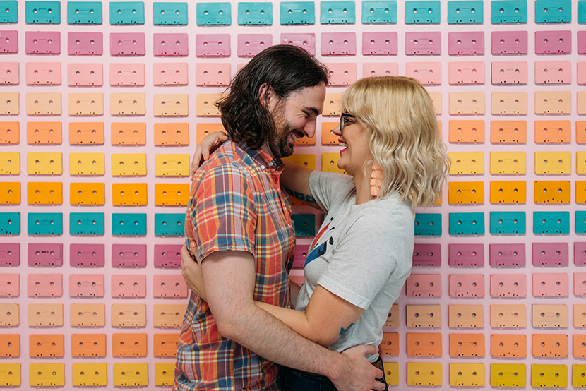 bright and colorful engagement pictures