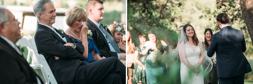 Emotional reactions during wedding ceremony