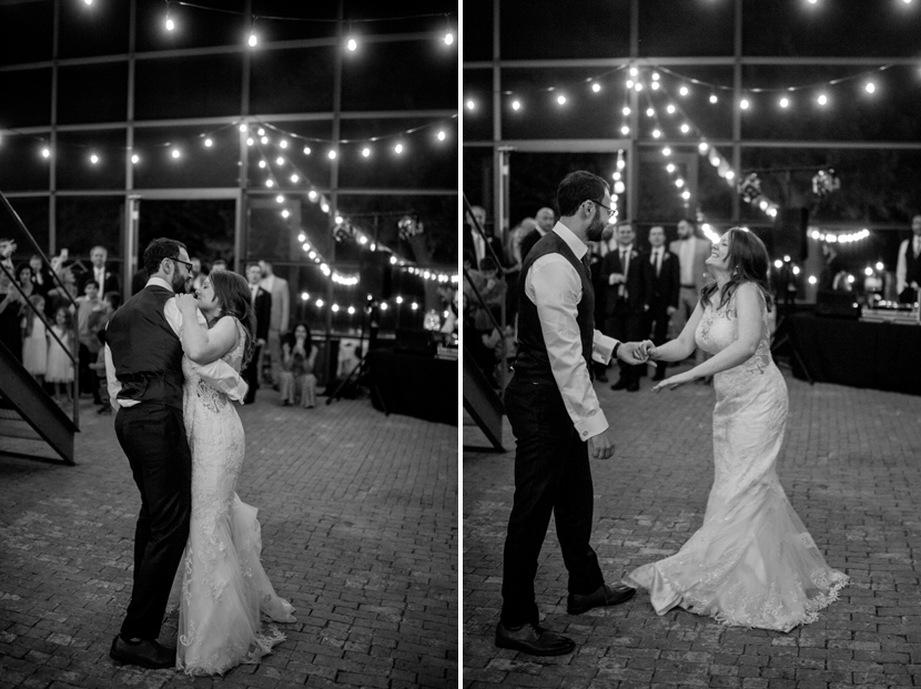 Beautiful dark first dance