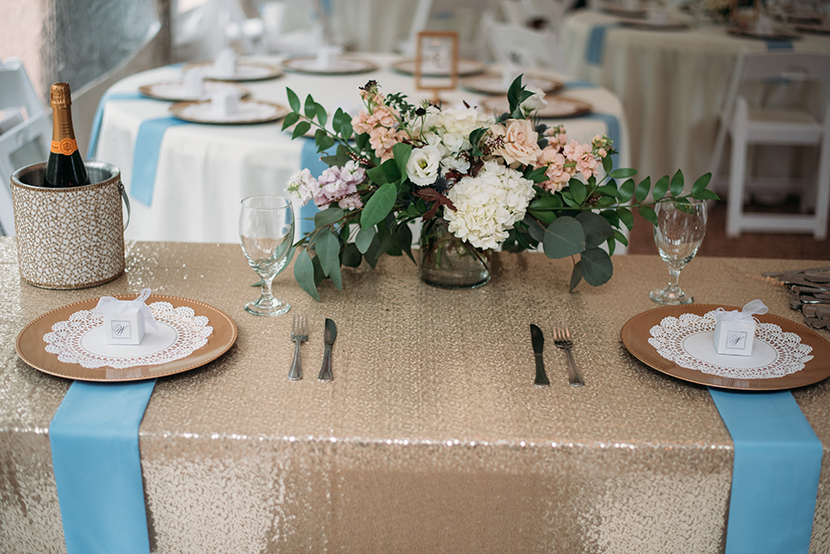 Sequined head table