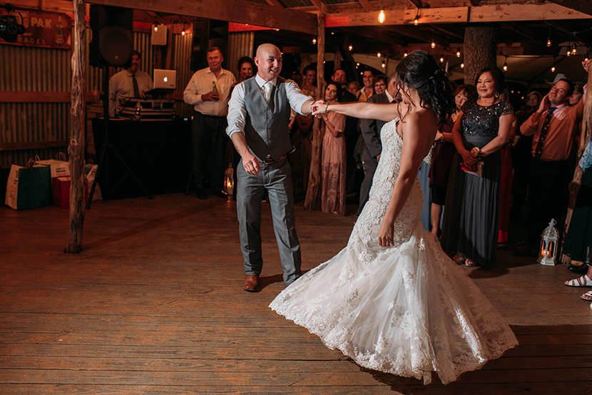 First dance at Wildflower Barn