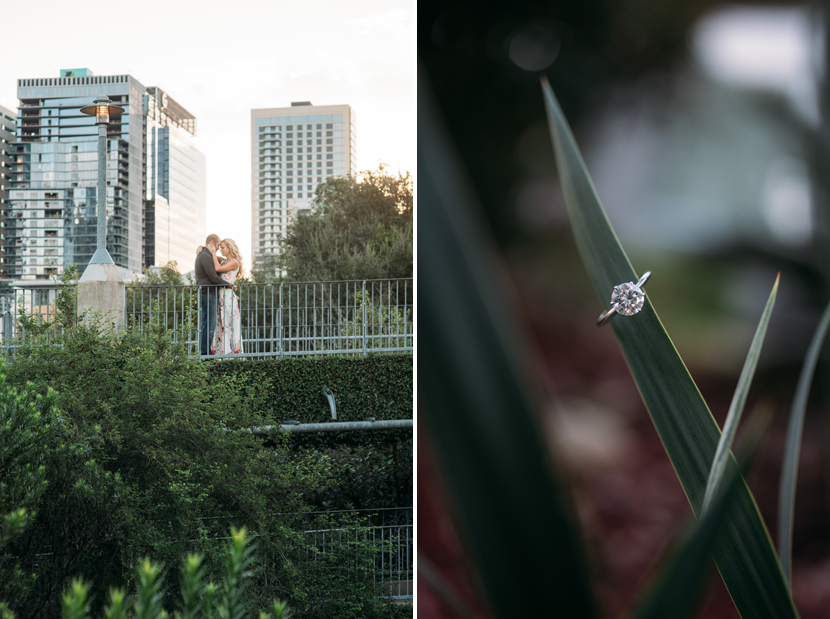 town lake hike and bike trail engagement pictures