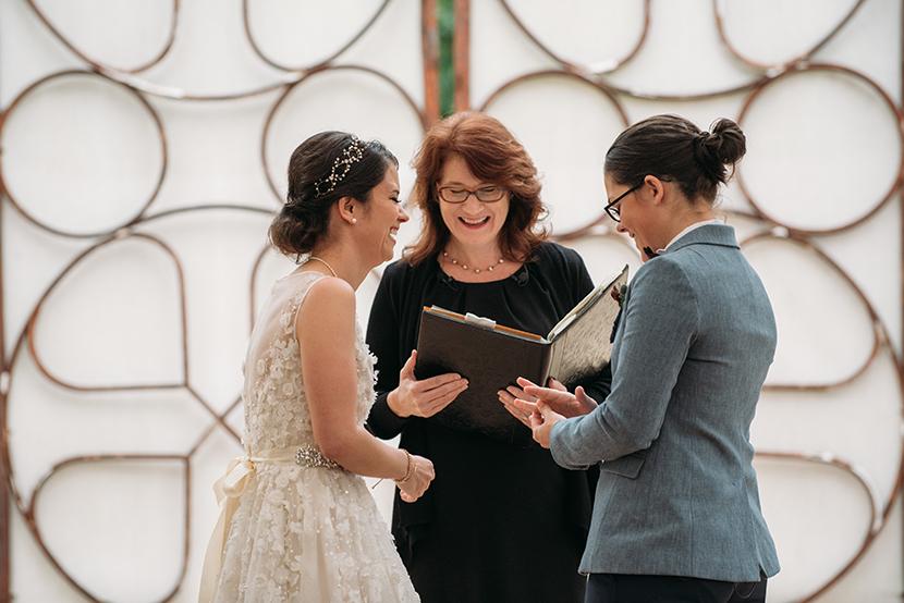 pearl snap hall outdoor wedding ceremony