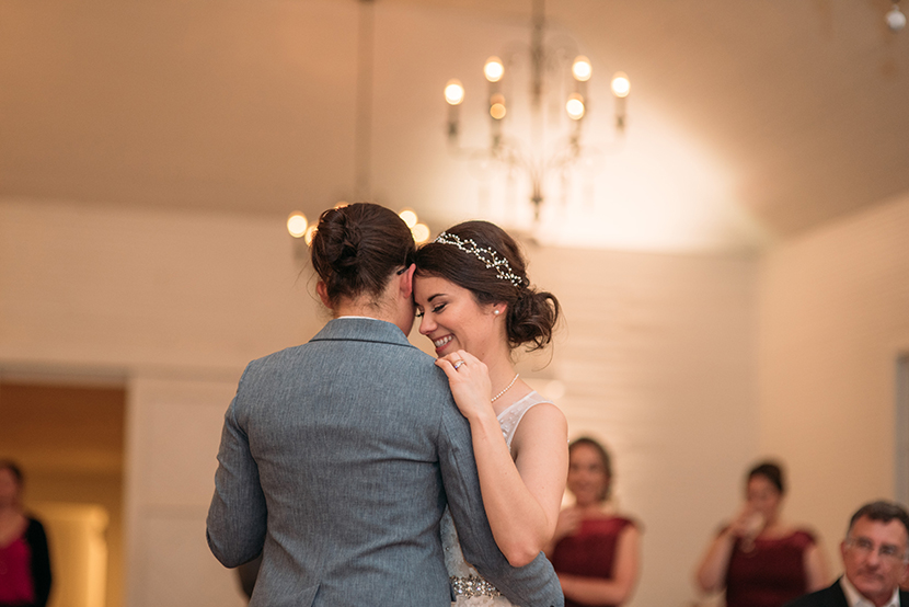 two brides having their first dance