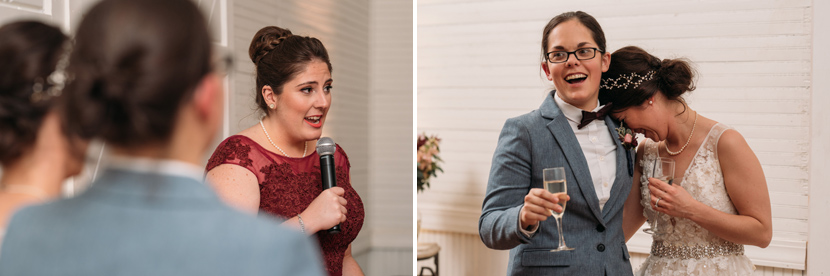 brides react to funny toasts