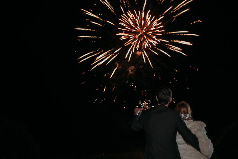 fireworks at wedding