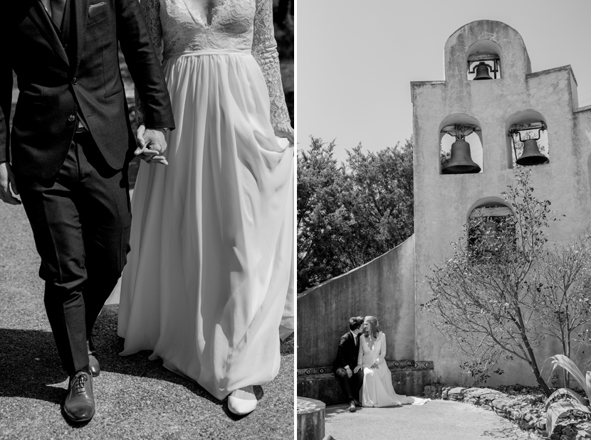 black and white classic photos at austin wedding