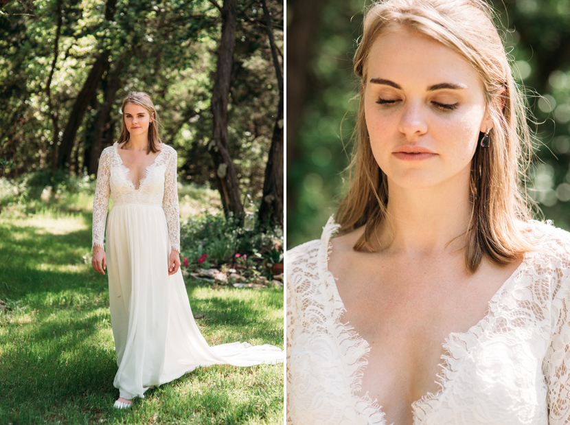 simple lace wedding dress for outdoor ceremony