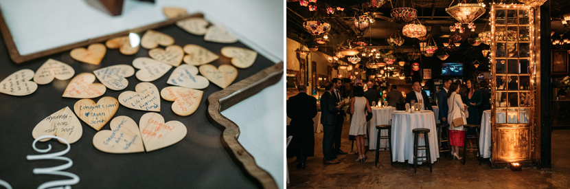 wedding details at nouveau art bar