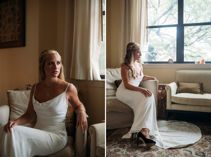bride in nicole miller gown