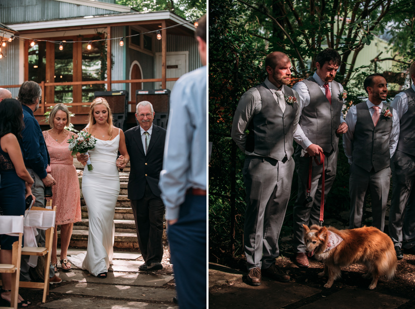 pet dog included in wedding ceremony